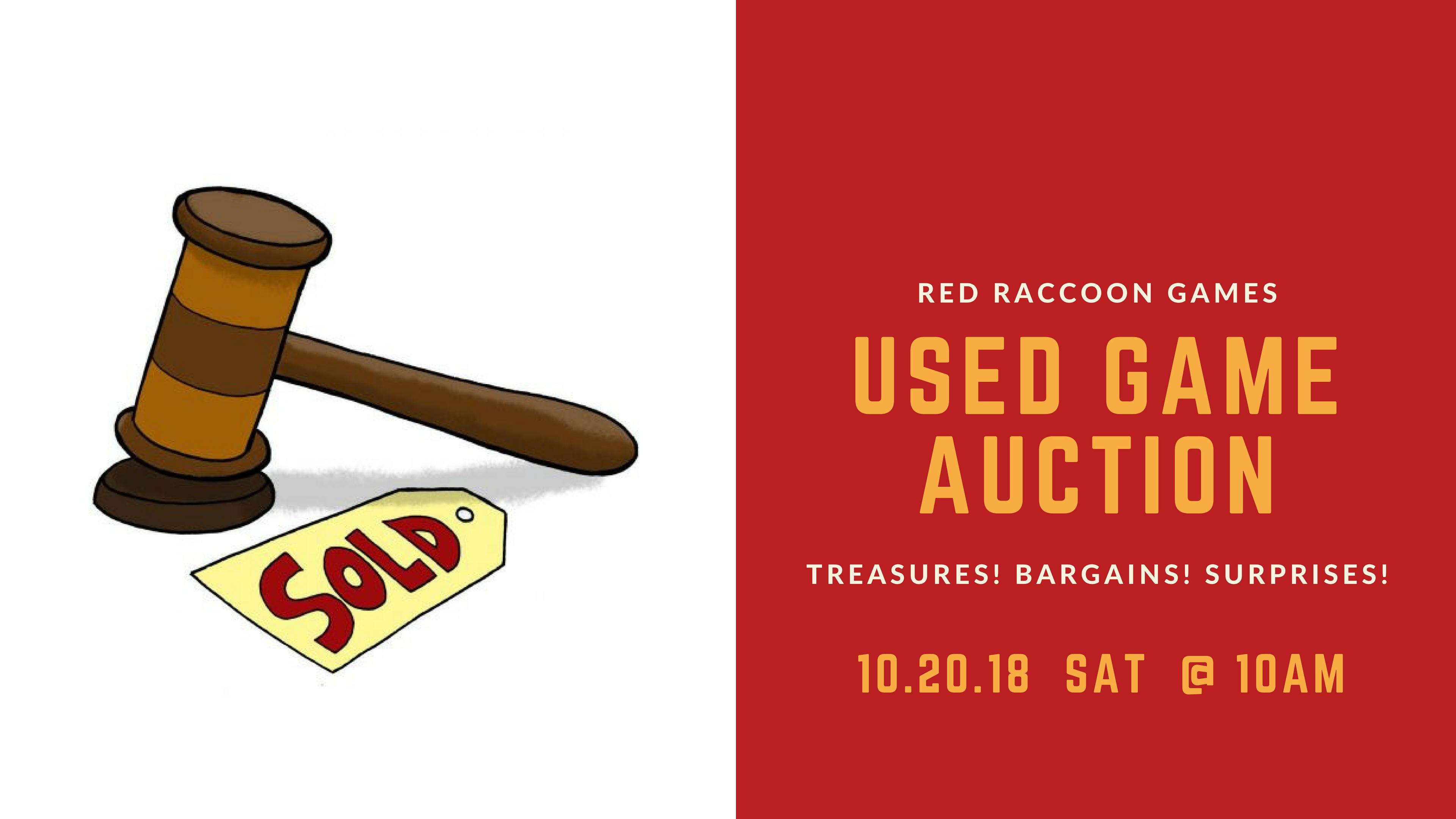 584d18ecf497d Want to sell your gently used games at the 2018 Red Raccoon Games Used Game  Auction?